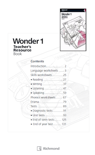 WONDER 1  TEACHER'S RESOURCE