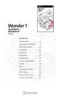 WONDER 1  TEACHER'S RESOURCE