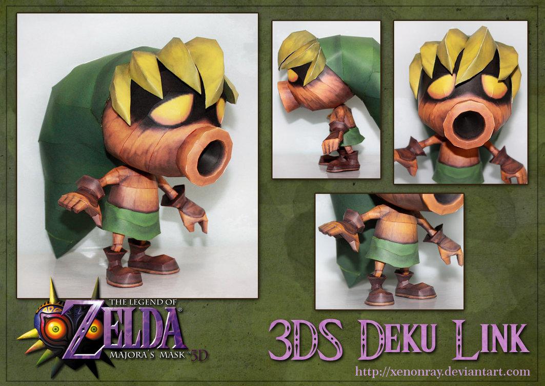 papercraft the legend of zelda majoras mask 3ds deku link
