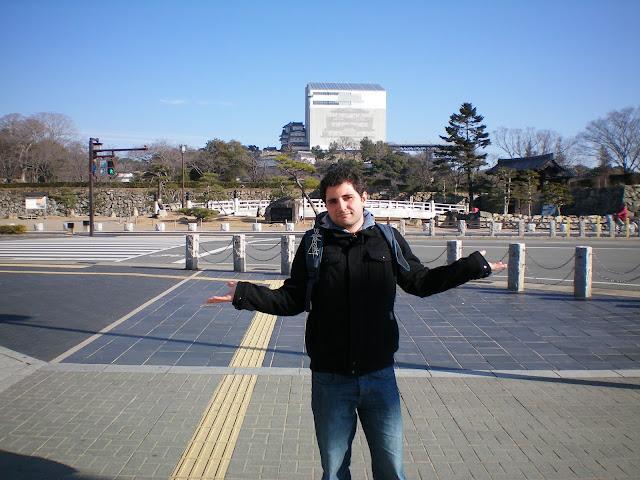 Castillo de Himeji en obras