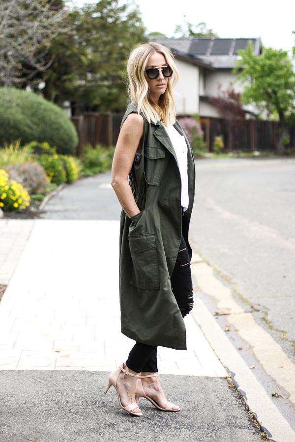 trench coat vest style