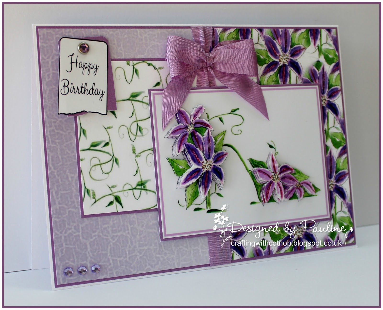 crafting with cotnob lilac clematis. Black Bedroom Furniture Sets. Home Design Ideas
