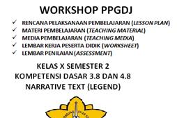 Download RPP Narrative Text (Legend) Kd. 3.8 dan 4.8 Lengkap dengan Materi Pembelajaran, Media Pembelajaran, LKPD dan Penilaian
