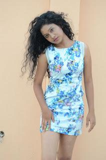 Actress Priyankha Stills in Floral Short Dress at Golmal Gullu Movie Pressmeet 0220.JPG