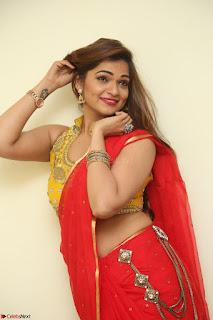 Actress Ashwini in Golden choli Red saree Spicy Pics ~  037.JPG