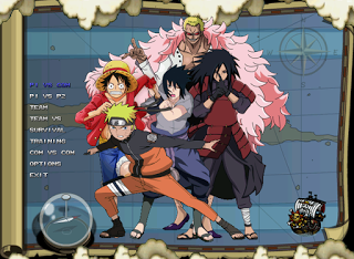 New One Piece VS Naruto Mugen v2 For PC Full Version