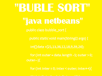 Contoh Program Java Netbeans Bubble Sort