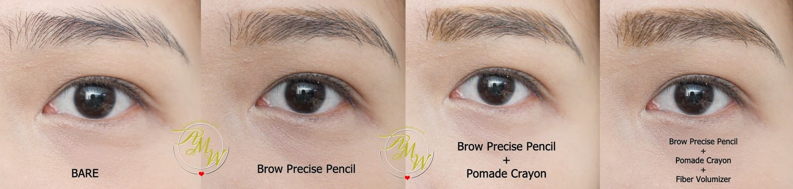 b947cc34664 before and after photo using Maybelline Fashion Brow Precise Shaping Pencil  Natural Brown Review, Maybelline