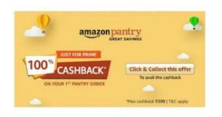 Amazon Pantry 100% Cashback Offer