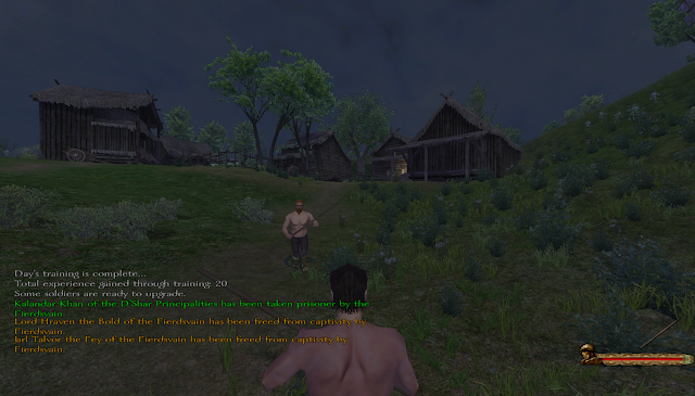 Training peasant villages in Mount and Blade: Warband