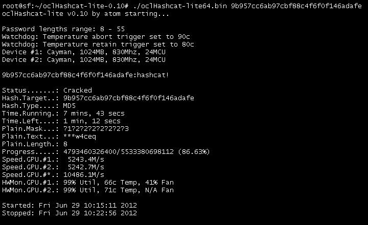 oclHashcat-lite v0 15] Worlds fastest NTLM, MD5, SHA1, SHA256 and