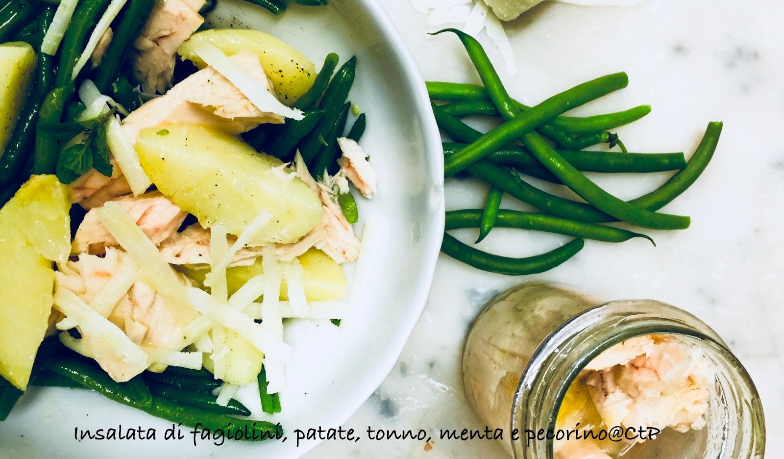 Insalata di fagiolini, patate, tonno, menta e pecorino alessandra ruggeri