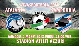 Prediksi Atalanta vs Sampdoria 4 Maret 2018