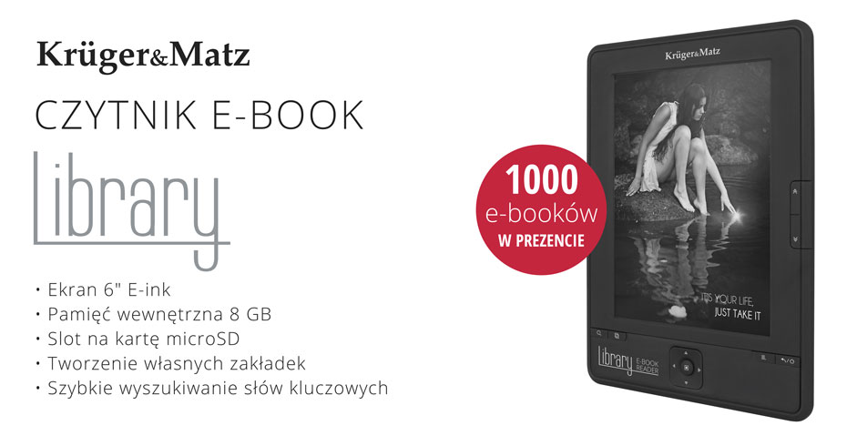 Czytnik e-booków Library z 12 przyciskami