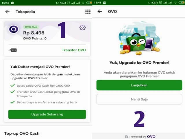 Tokopedia pay ovo