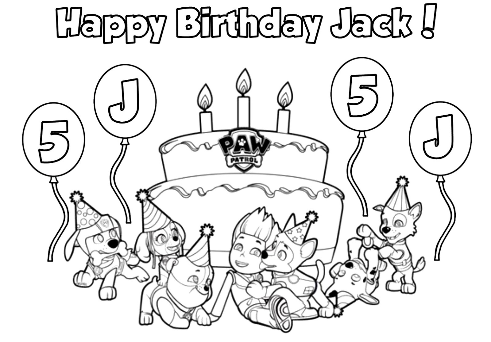 Nick jr summer coloring pages - Paw Patrol Birthday Coloring Pages