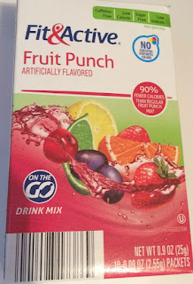 Box of Fit & Active Fruit Punch Drink Mix Sticks, from Aldi
