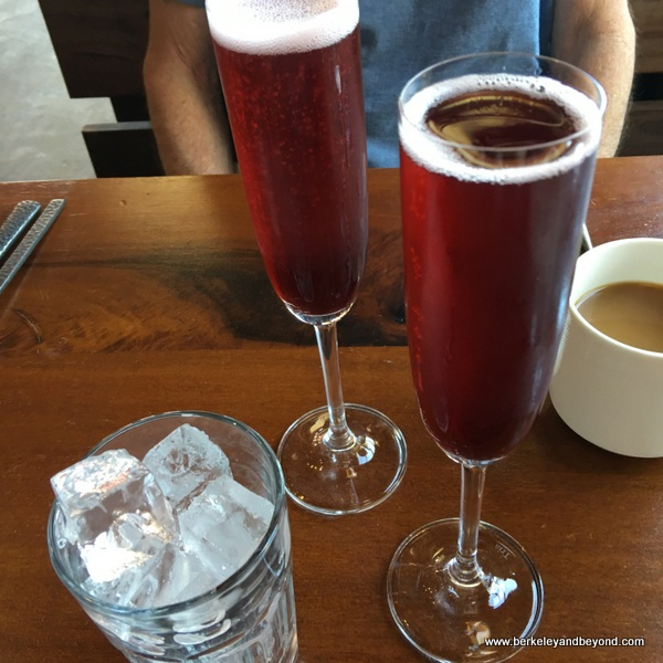 marionberry mimosa at Cafe Eugene in Albany, California