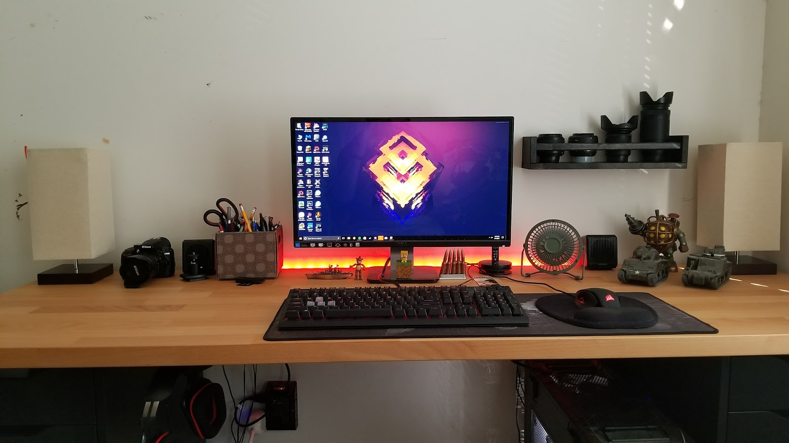 Ikea Computer Desk Dream Build Around 300 Home Tech Dad A