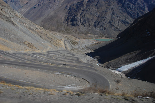 This road route is pass from mountains in the Andes between Argentina and Chile. This is the main and only one transport route raod out of Cheilean Capital City Santiago Into Mendoza City in Argenina its remove also too much under heavy traffic to travels above mentioned destinations. Mendoza City and Chilean City Road Images