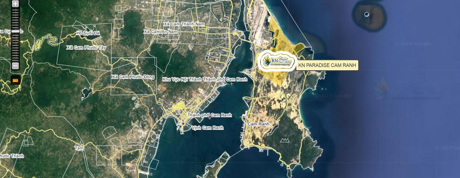 Bản đồ vị trí căn hộ hạnh phúc - KN Paradise Cam Ranh