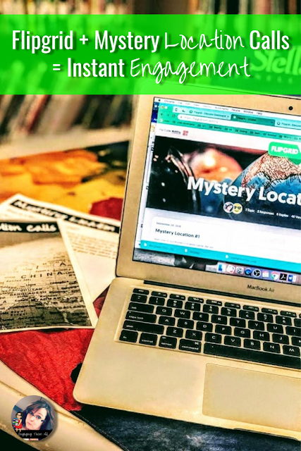 Use Flipgrid to connect your students to other classrooms to play a Mystery Location Game! #flipgrid #edtech #mysteryskype #classroom #elementarysocialstudies #socialstudies #geography
