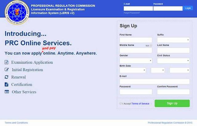 PRC's LERIS Homepage Lay-out, a Facebook Look-Alike?