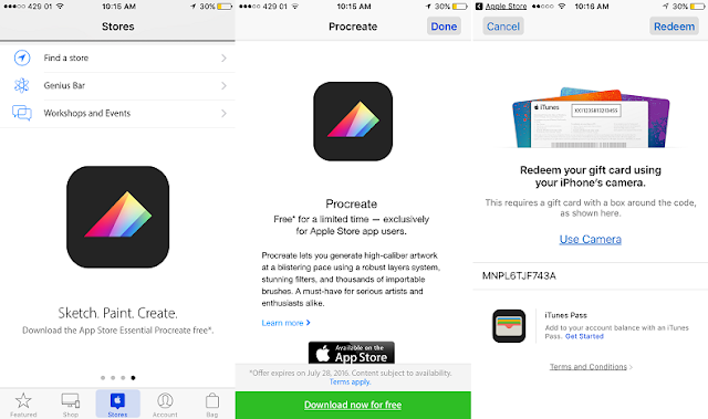 Apple is offering Procreate Pocket, the powerful image editing app for iPhone which is available for free download for limited time via the Apple Store App