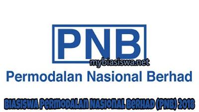 Biasiswa Permodalan Nasional Berhad (PNB) 2018