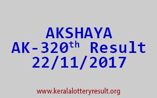 AKSHAYA Lottery AK 320 Results 22-11-2017