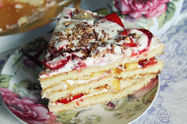 рецепты фруктового торта с фото