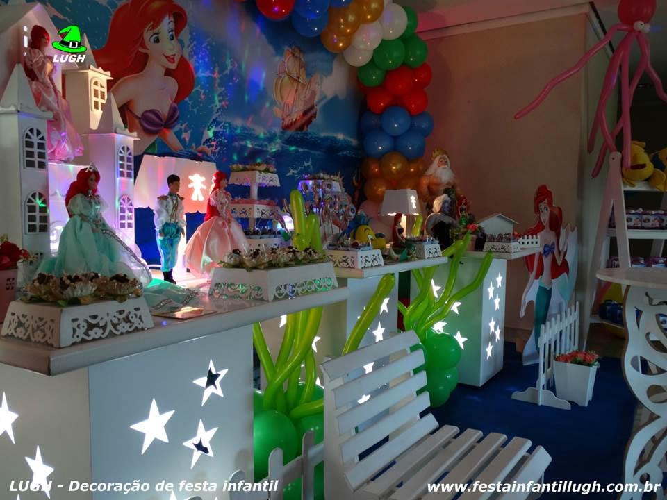 Tema A Pequena Sereia (Ariel) Decoraç u00e3o de festa infantil Festa Infantil Lugh -> Decoração De Pequena Sereia Simples