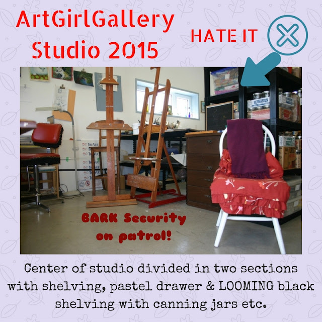 ArtGirlGallery art studio needs organizing.