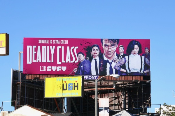 Deadly Class syfy series billboard