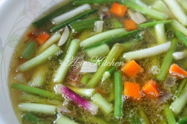 Sup Daun Bawang Yang Sangat Sedap