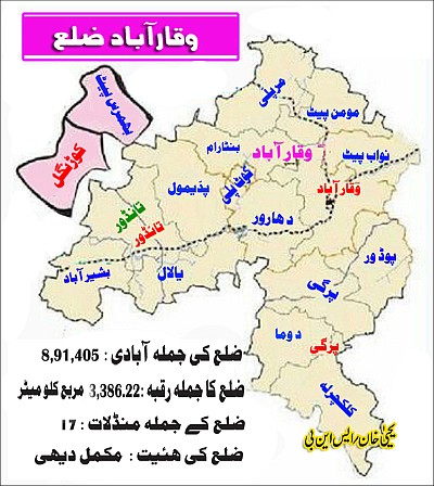 VIQARABAD-ZILLA urdu map