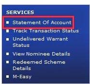 SBI MF Account Statement Online