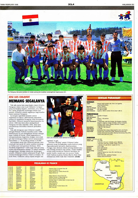 PIALA DUNIA 1998: PARAGUAY