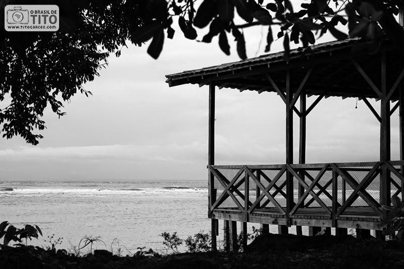 Paisagem na vila do Algodoal, na ilha de Maianeua, no Pará