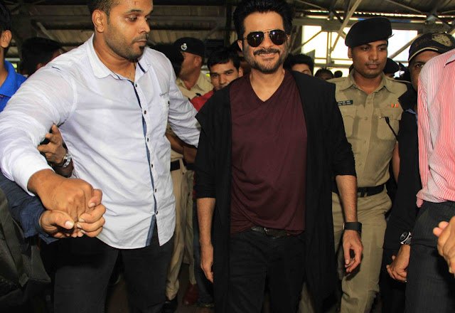 Anil kapoor in black jacket to promote 24