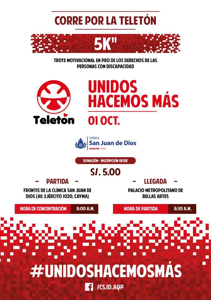 Corre por la Teletón 5k - 01 de octubre