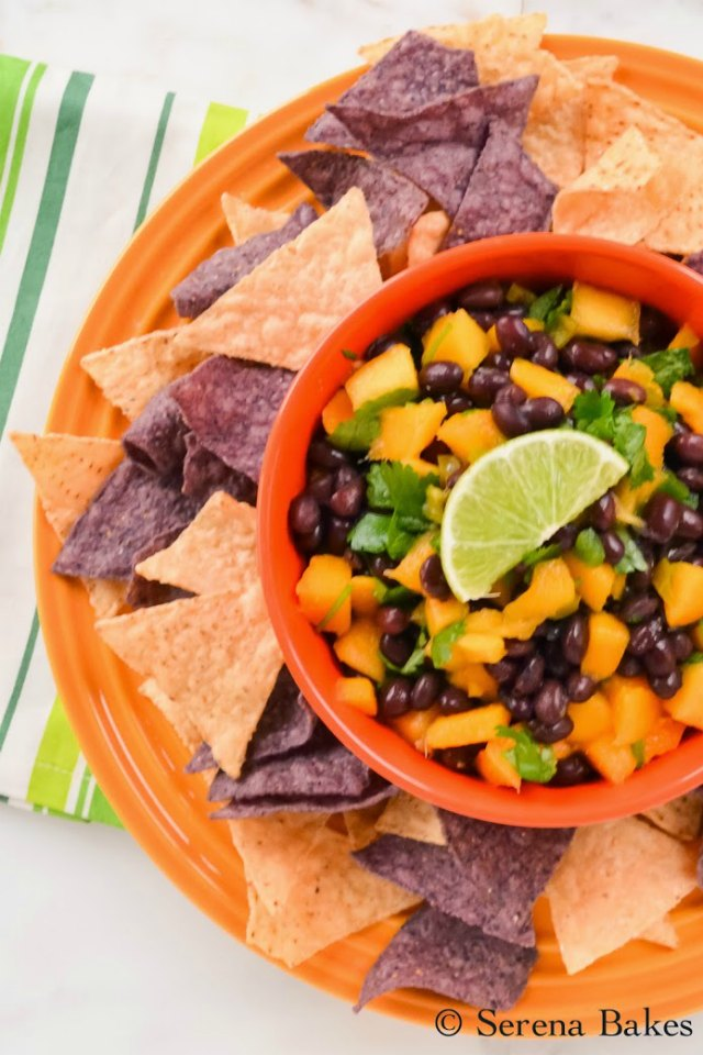 Mango Black Bean Salsa is a must make for Cinco De Mayo!
