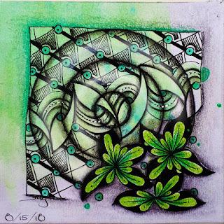 IAST Challenge #256 with Tangle Patterns: Mazorito, Hexa, Horti