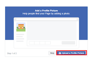 Upload a profile photo, Create a Facebook Page