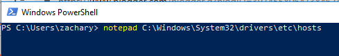 A Powershell command prompt
