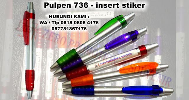 Jual pen plastik insert paper 736 | pulpen promosi 736
