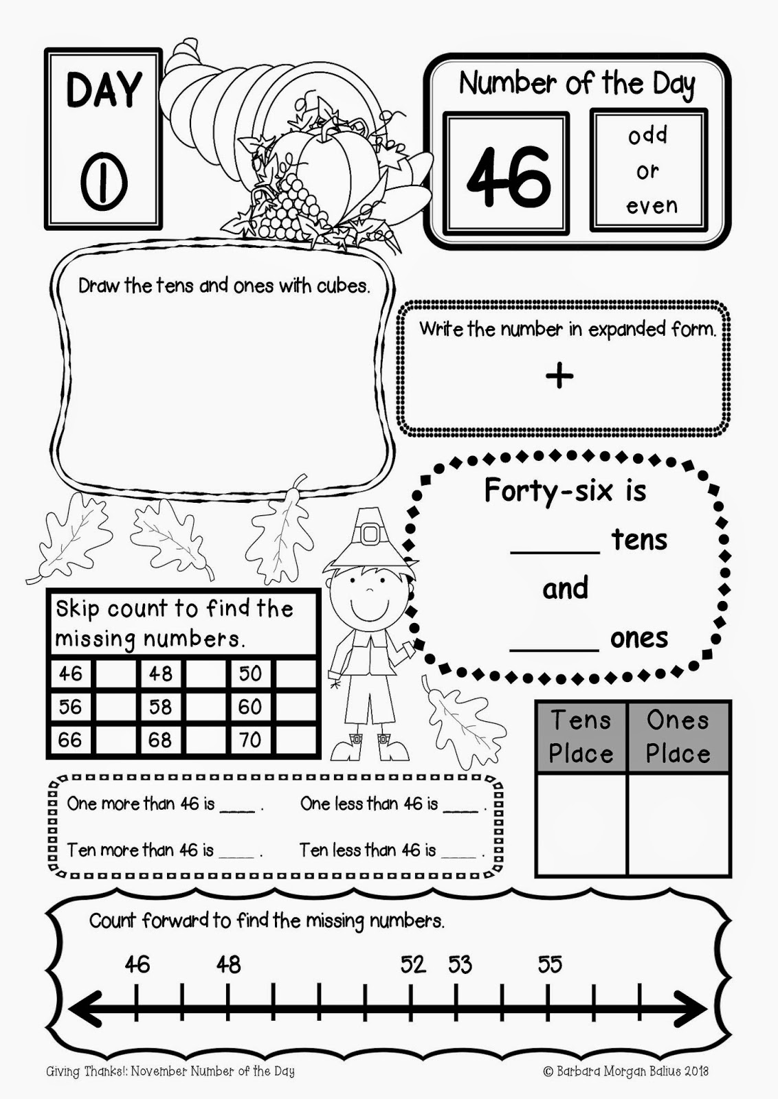 Third Grade Calendar Worksheet