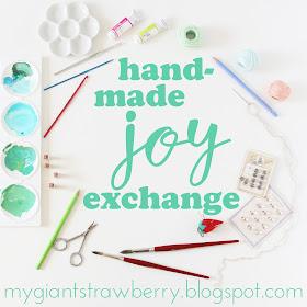 Handmade Joy Exchange, creative exchange, snail mail, handmade, creativity, joy, Anne Butera, My Giant Strawberry