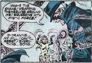 Phantom Stranger #35, captured by magic chains