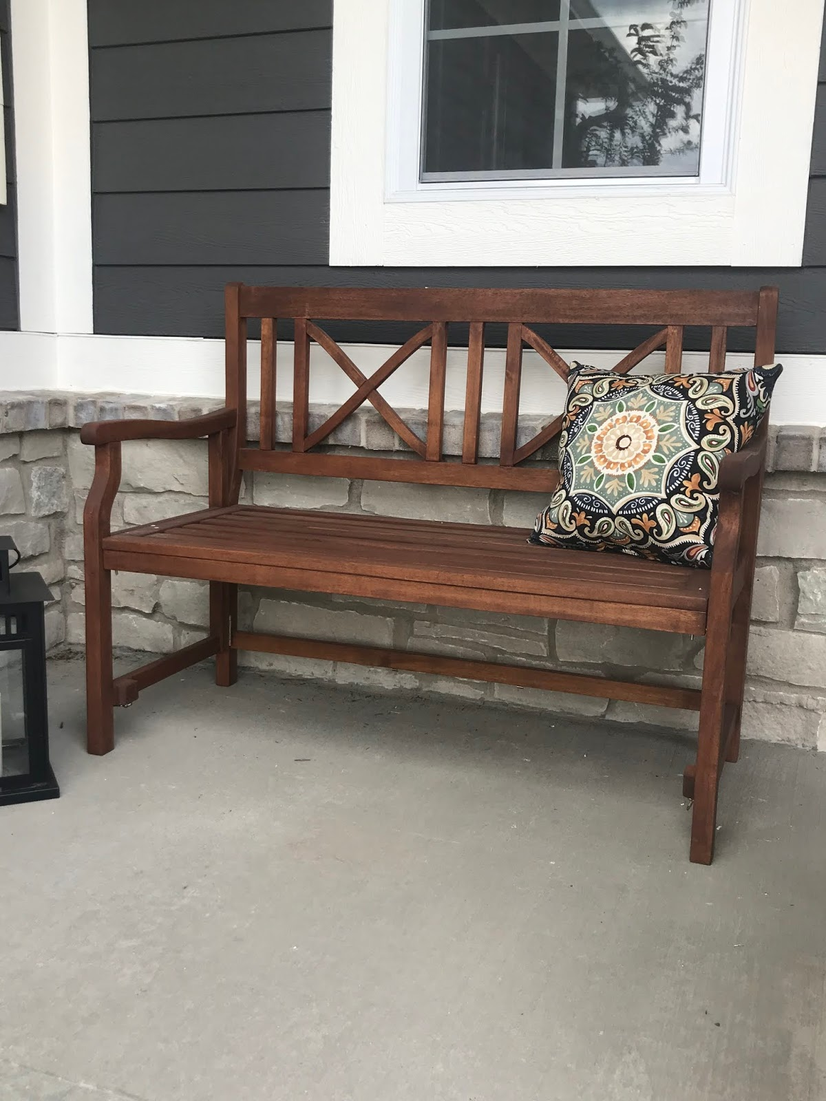 folding porch bench